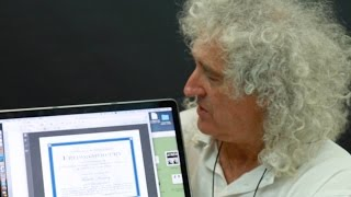 Brian May announces Asteroid 17473 Freddiemercury 04/09/2016