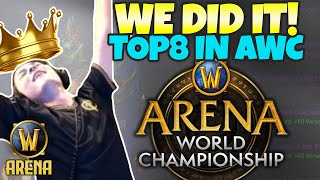 TOP 8 IN NA AWC - WE DID IT!! | WoW Arena | Pikaboo | Golden Guardians