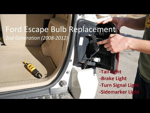 Ford Escape Tail Light Bulb Replacement (also Brake & Turn Signal) - Quick & Easy in 4K