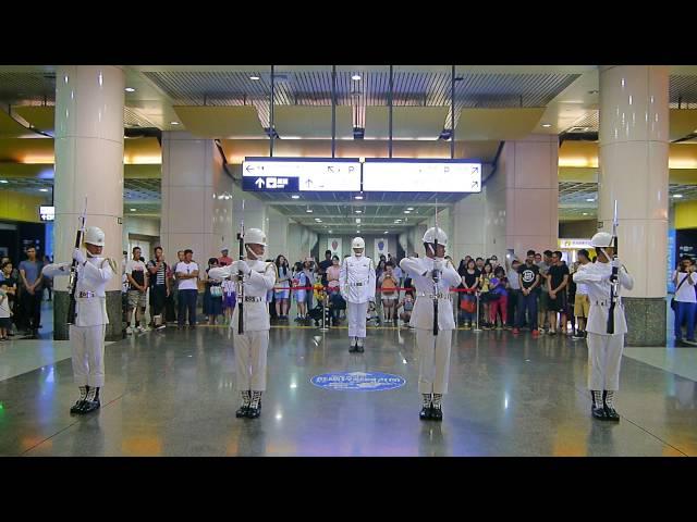 2016-09-01 榮耀九三系列活動-海軍儀隊新北市板橋車站疾風快閃