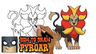 Pyroar  - (Pokémon) - How to Draw Pokemon | Pyroar | Step by Step