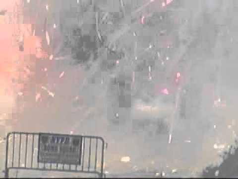 Police Ignites 2200kg Of Fireworks Into Fiery Ball Of Mayhem