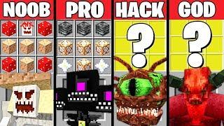 Minecraft Battle: MONSTER BOSS CRAFTING CHALLENGE - NOOB vs PRO vs HACKER vs GOD ~ Animation