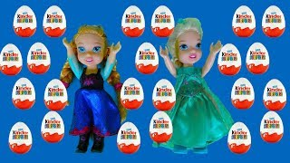 Elsa and Anna toddlers chocolate egg hunt for Easter