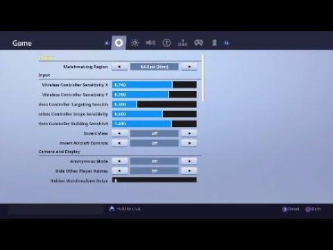 Best Settings Sensitivity Deadzone Ps4 Xbox Fortnite Season 8