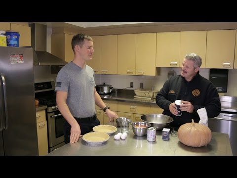 Firehouse Kitchen #3 - Homemade Pumpkin Pies