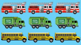 Street Vehicles Chart for Kids - Learning to Chart with Fire Trucks, School Buses & Garbage Trucks