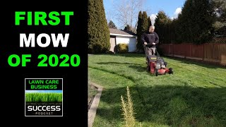 First Lawn Mowing of 2020