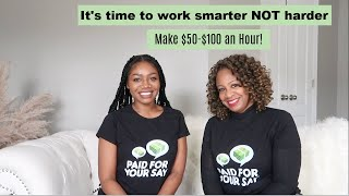 HOW TO MAKE $500 - $1500 A MONTH WITH FOCUS GROUPS   High Paying Side Hustle Work From Home 2021