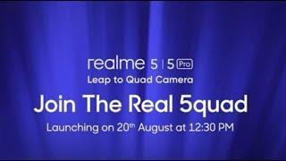 Realme 5   5Pro Live Launch Event Stream.