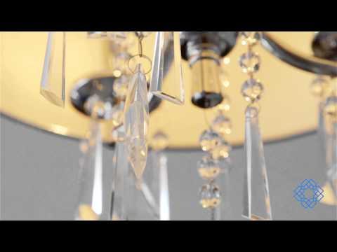 Video for Echelon Chrome Black Three-Light Convertible Semi Flush Mount with Tuxedo Shade