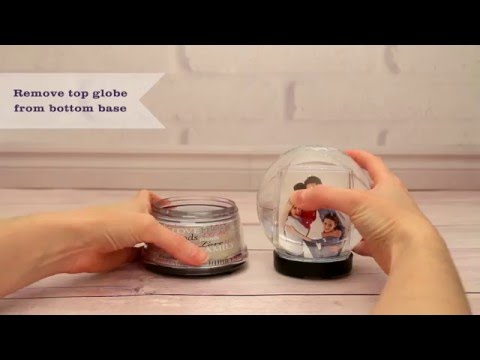 Learn how to customize the Create Your Own Photo Snow Globe from Neil Enterprises