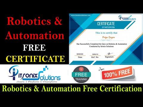 Robotics & Automation Certificate - ITRONIX SOLUTIONS Free ...