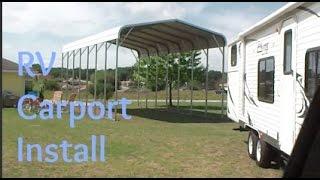 RV Carport Install