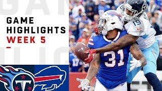 Titans vs. Bills Week 5 Highlights | NFL 2018
