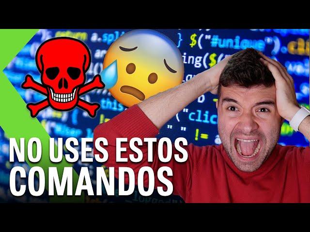 LOS 10 COMANDOS MÁS PELIGROSOS de Windows, Mac, Linux - Podrían DESTROZAR tu ORDENADOR