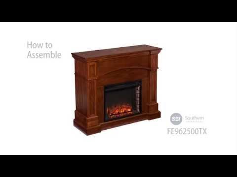 Southern Enterprises Lantana Electric Fireplace - Oak Saddle