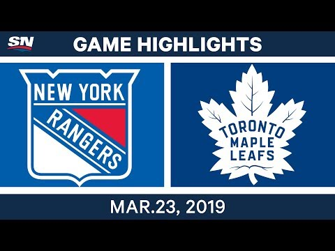 NHL Game Highlights | Rangers vs. Maple Leafs – March 23, 2019