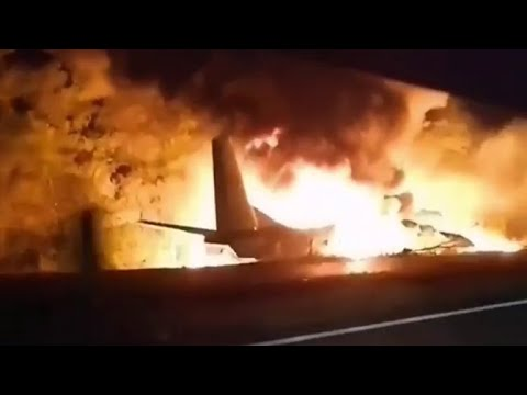 Под Харьковом разбился самолет Ан-26 видео