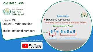 Rational Numbers | Exponents | Mathematics For Class VIII | Ruby Park Public School Thumbnail