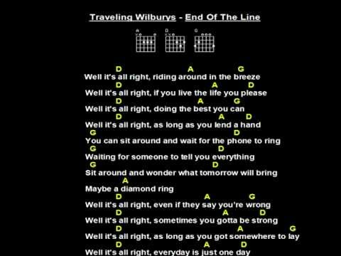 The Traveling Wilburys End Of The Line Jam Track Plus Guitar