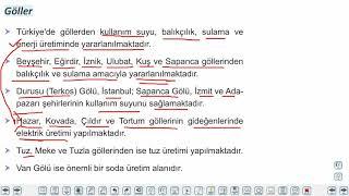 Eğitim Vadisi 11.Sınıf Coğrafya 8.Föy Türkiye'nin Doğal Kaynakları 2 Konu Anlatım Videoları
