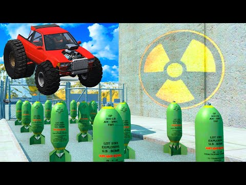 EXPERIMENT - Cars vs Nuclear Bombs #17 - BeamNG.Drive   CrashTherapy