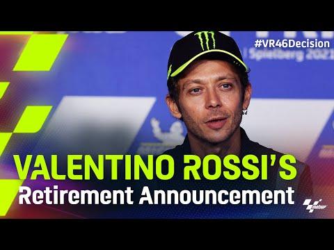 Valentino Rossi is retiring 🥺
