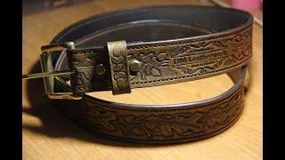 Handmade Leather Belt Oak