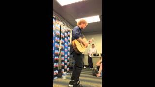 """Ed Sheeran singing """"Homeless"""" at the Chicago Mix 101.9 Meet and Greet 09/16/14"""