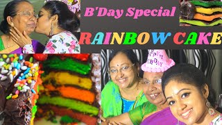 RAINBOW CAKE | BIRTHDAY SPECIAL CAKE | AMMAMA BIRTHDAY | MEGHNAZ STUDIOBOX |