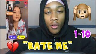 ASKING RANDOM GIRLS TO RATE ME 1-10| MONKEY APP🙉💔