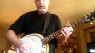 Six string banjo finger picking