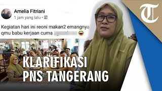 FB Amelia Fitriani Viral seusai Unggah Ujaran Kebencian, PNS Kota Tangerang Sebut Akunnya Diretas