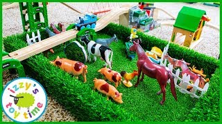 THE FIELD! Toy Trains and FARM ANIMALS? YES! Thomas and Friends Toy Trains