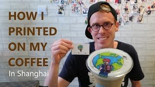 Selfie coffee in Shanghai - Print a picture on your latte in Cafe Fay with wechat
