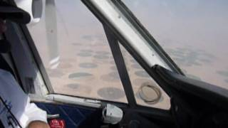 DHC6 fly over agricultural crop cirles in Arabia desert. January 2010 (1)