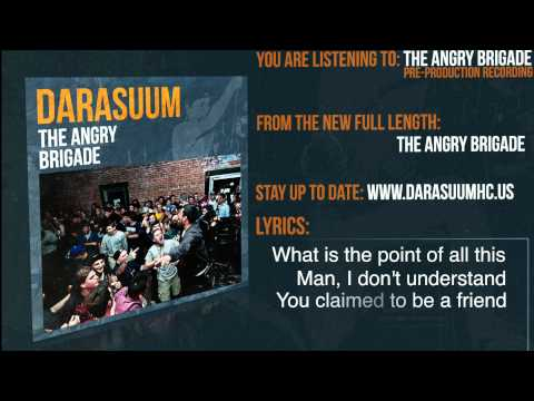 Darasuum - The Angry Brigade Lyric Video (Pre-Production)