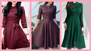 Most Out Class And Trendy Solid Color Skater Dresses Styles And Ideas For Girls
