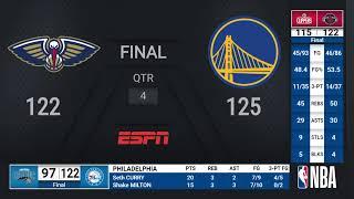 Pelicans @ Warriors   NBA on ESPN Live Scoreboard