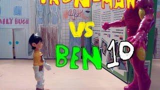Iron Man VS Ben 10(Heatblast) Stop motion