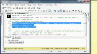 How to convert string to datetime in sqlserver with Queries