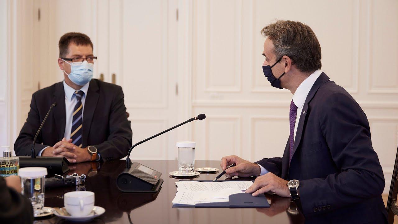 Συνάντηση Κυριάκου Μητσοτάκη με τον Επίτροπο αρμόδιο για τη Διαχείριση Κρίσεων Janez Lenarčič