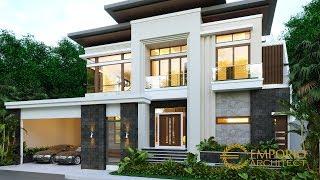 Video Desain Rumah Modern 2 Lantai Bapak Edwin di  Pontianak