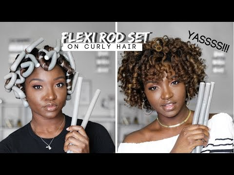 How To Use Flexi Rods For Curls On Natural Hair