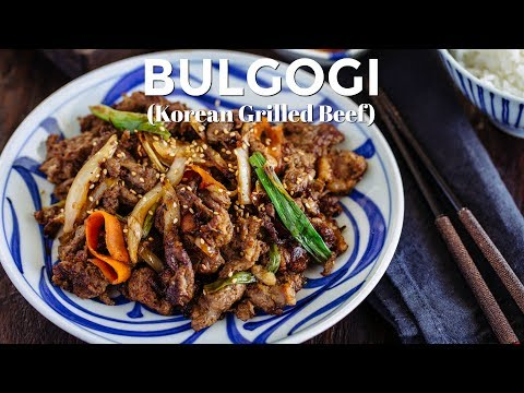 How To Make Bulgogi (Korean Grilled Beef) (Recipe)  プルゴギの作り方 (レシピ)