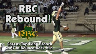Red Bank Catholic 21 Long Branch 7 | Week 3 Highlights | Caseys Win Battle of Reigning State Champs