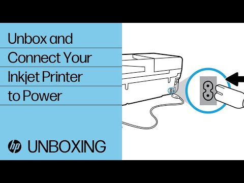 Unboxing and connecting your printer to power
