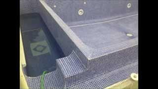 preview picture of video 'Fin de la construcción de una piscina con albañiles e instaladores profesionales'