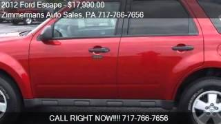 2012 Ford Escape for sale in Mechanicsburg, PA 17055 at the